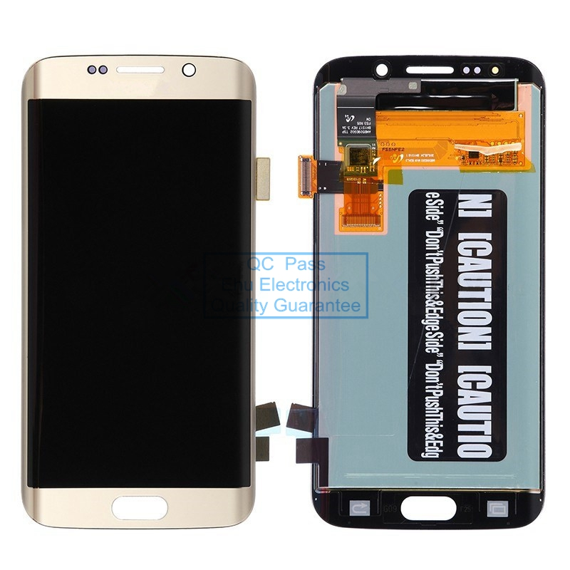 New LCD Screen and Digitizer Assembly for Samsung Galaxy S6 Edge G925V G925P G925R4 G925T G925W8 G925I G925F G925A  Gold
