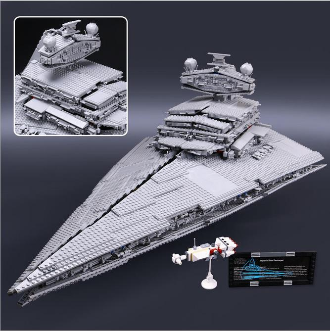 lepin 3250Pcs 05027 Star Wars Emperor fighters starship Model Building Kit Blocks Bricks Compatible 10030 Children Toys