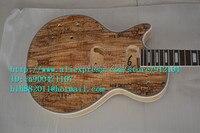 شحن مجاني جديد كبير جون مكتمل اليد اليسرى الغيتار الكهربائي في اللون الطبيعي مع الغيتار الماهوجني الجسم لديي F-1195