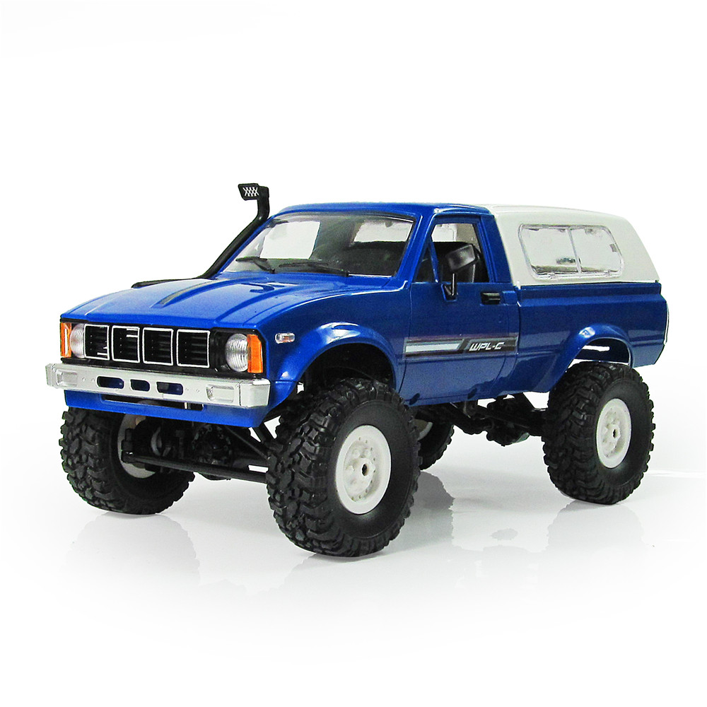 2018 New WPL C-24 1/16 4WD 2.4G Military Truck Buggy Crawler Off Road RC Car 2CH RTR Toy Kit Without Electric Parts DIY RC Model new arrival wpl wplb 1 1 16 2 4g 4wd rc crawler off road car with light rtr toy gift for boy children