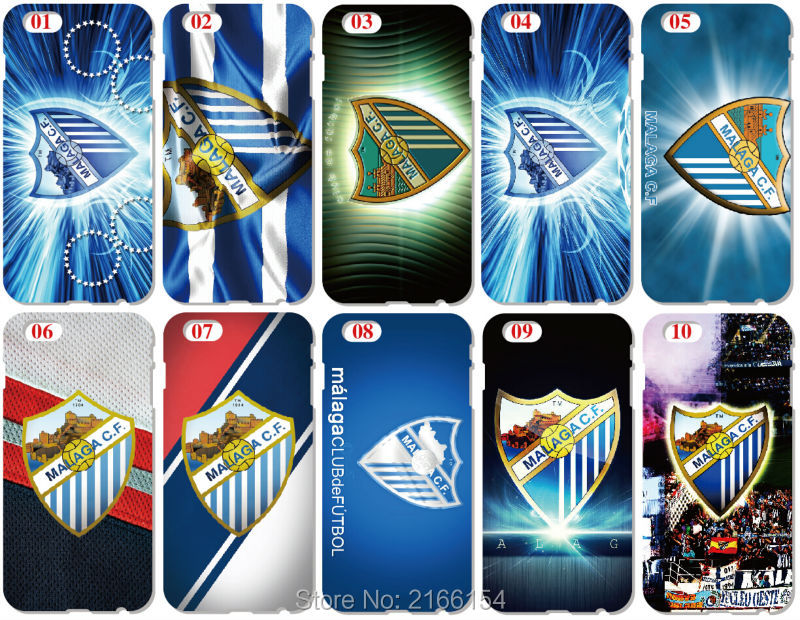 Print Malaga C.F Shell Cover For iphone 10 X 4 4S 5 5S SE 5C 6 6S 7 8 Plus For iPod Touch 5 6 Phone Case Coque Fundas Bumper