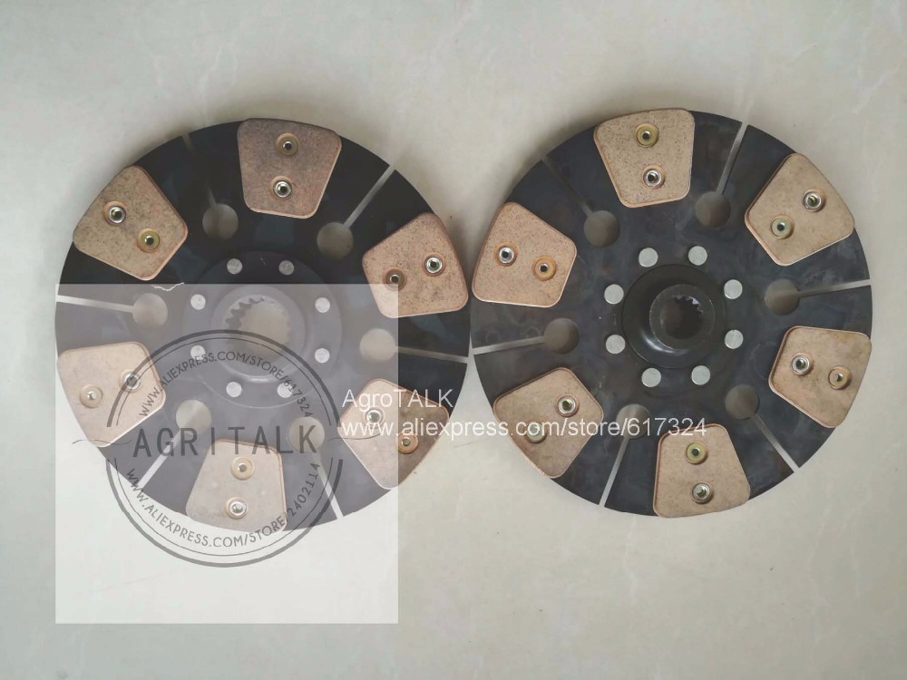 Foton FT404 454 TB504 TB554, set of clutch discs , part number:  TB550.211.1+TB550.211A.2 (= CF500A.21.024+CF500A.21.025)