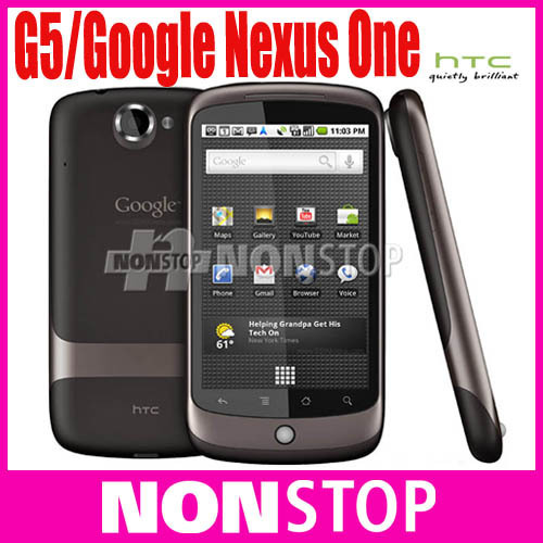 G5 Unlocked Original HTC Google Nexus One G5  Android 3G 5MP GPS WIFI 3.7''TouchScreen Unlocked Mobile Phone