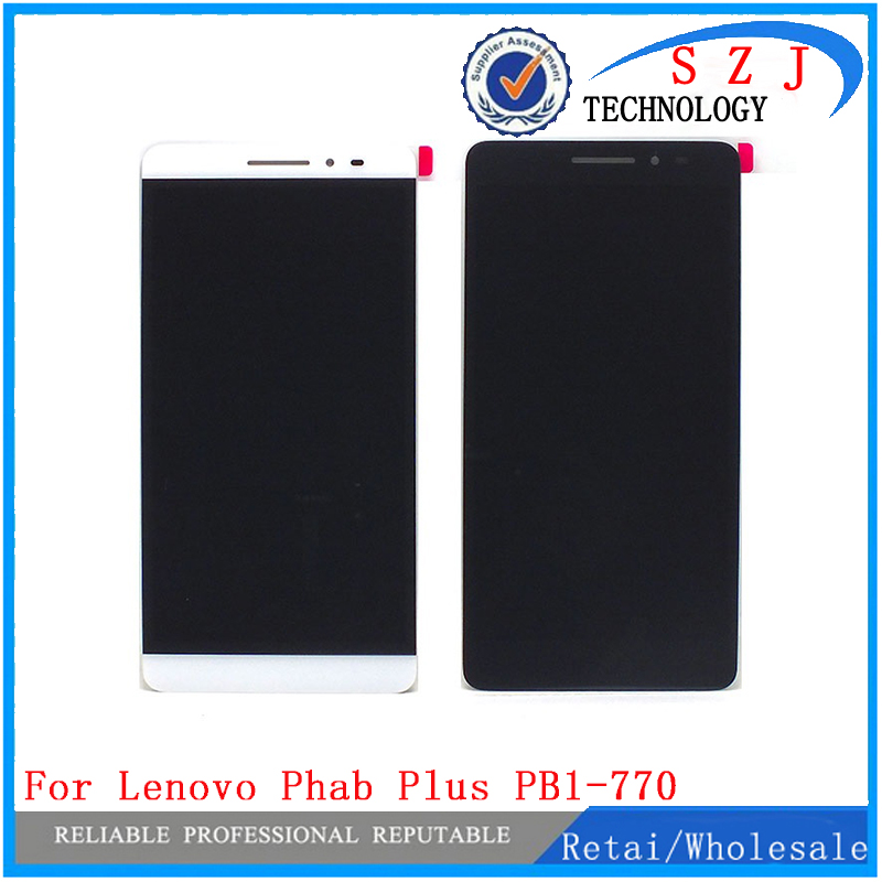 все цены на New 6.8'' case For Lenovo Phab Plus PB1-770 PB1-770N PB1-770M Full LCD Display Monitor + Touch Panel Screen Digitizer Assembly онлайн