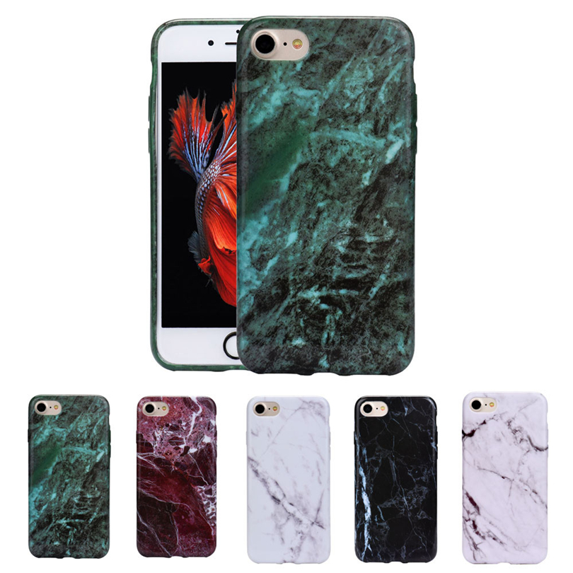 Mobile-Phone-Case Back-Cover Shatterproof for Marble Texture-Print Skin Protect Funda
