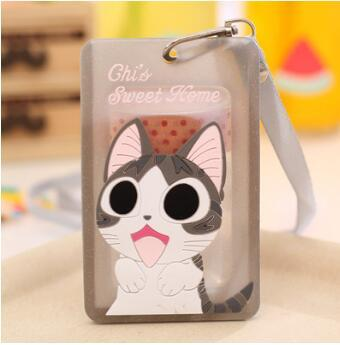 eTya Card Holder Women Cover Bag Cartoon Animal Design Bus Name  ID  Hanging School Job Id Card Passport Holder Case With String