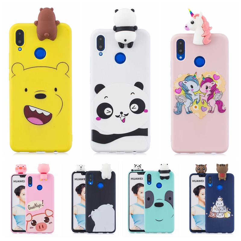 Shop For Cheap For Huawei P Smart Plus Case On For Huawei P Smart Plus 6.3 Inch Cover Fundas 3d Cartoon Unicorn Soft Silicone Phone Cases Coque Fitted Cases