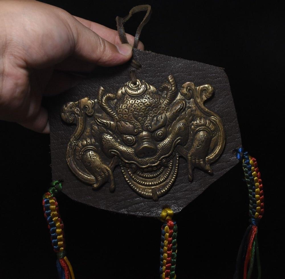 Noël recueillir Tibet bouddhisme laiton rouge ailé Garuda aigle bouddha Statue pendentif halloween