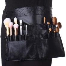 Pro Makeup Brush Display Holder Case Bag Artist Belt Strap Cosmetic Makeup Brushes PU Holder Apron Bags
