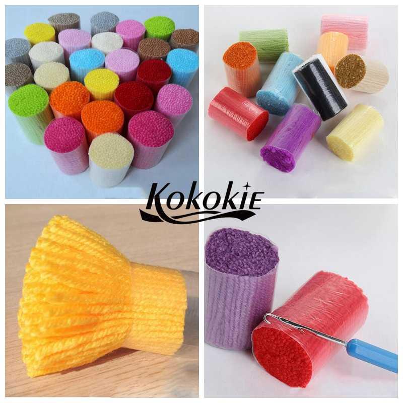 Fai da te tappeto unicorno arazzo kit knooppakket klink haak kleed 3d gancio del fermo tappeto fumetto tappeto crochet del ricamo del filato accessori