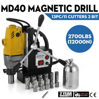 Магнитный сверлильный станок MD40, 13 шт., 1 резак HSS