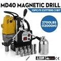 MD40 perceuse magnétique 13 PC 1 ensemble de coupe HSS Kit de coupe annulaire perceuse magnétique