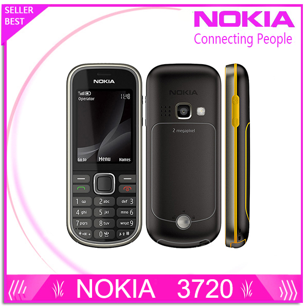 Refurbished Nokia 3720 unlocked Mobile Phone with Russian Keyboard 3720 classic Nokia Cell Phone 2MP Camera