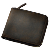 New Retro Crazy Horse Genuine Cow Leather Men S Classic Wallet Money Purse Coin Bag Card