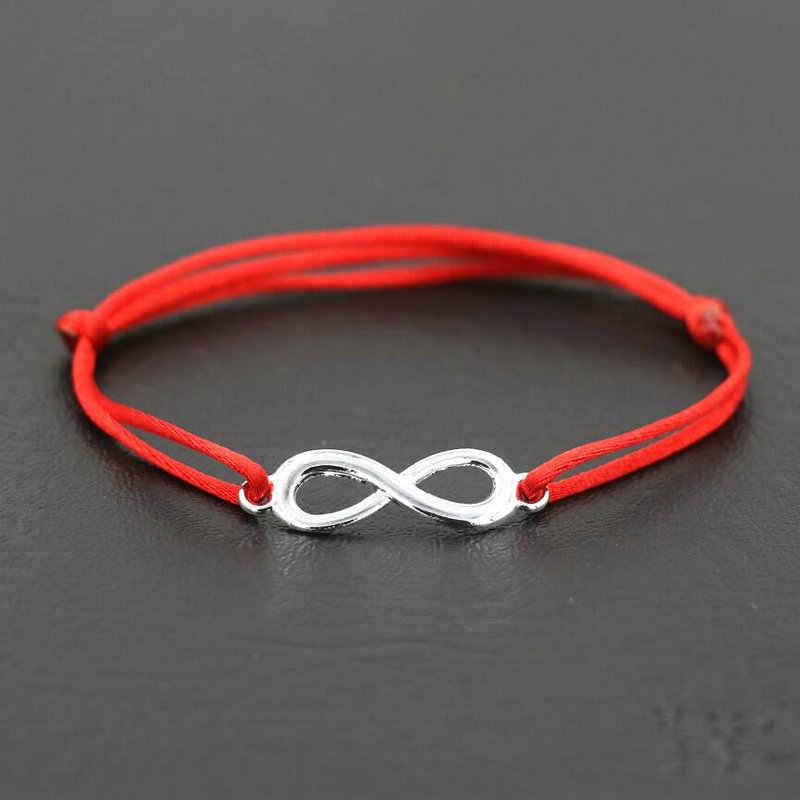 ANILLO 女性無限大 8 チャームブレスレット愛好家ラッキー赤スレッド String ブレスレットロープ編組カップル調節可能な宝石類のギフト