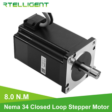 цена на Rtelligent High Torque Nema 34 86A8EC 8.0N.M Hybird CNC Closed Loop Stepper Motor Easy Servo Motor Step-servo with Encoder