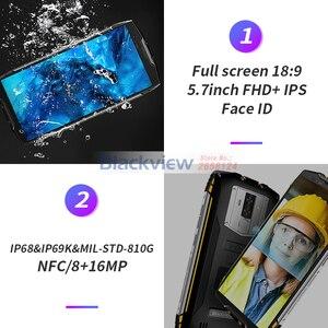 Image 3 - Смартфон Blackview BV6800 Pro, 5,7 дюйма, 6580 мАч, IP68 водонепроницаемый, 16 МП, NFC, 4 Гб 64 ГБ, Android 8,0, мобильный телефон