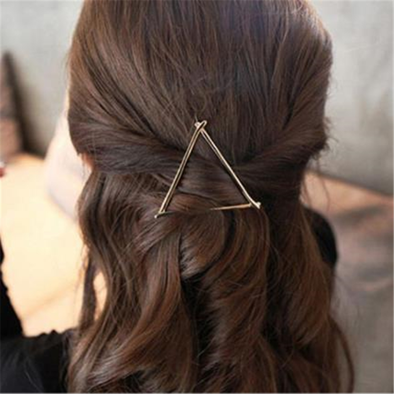Metal Girl Fashion Hairpin Hollow Triangle Variety Hairpin Wedding Party Show Hair Accessories in Costume Accessories from Novelty Special Use