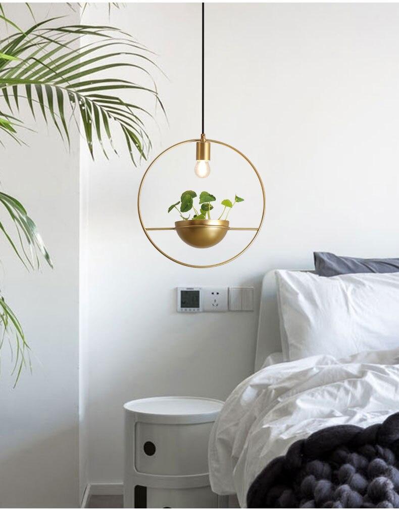 北欧餐厅灯简约创意个性吧台单头床头奶茶店服装店小吊灯植物灯具-tmall_06