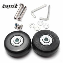 AEQUEEN 1 Pair Luggage Replacement Wheels For Suitcase Axles Deluxe Repair OD 50mmx20mm Rubber Luggage Wheels Travel Accessories(China)