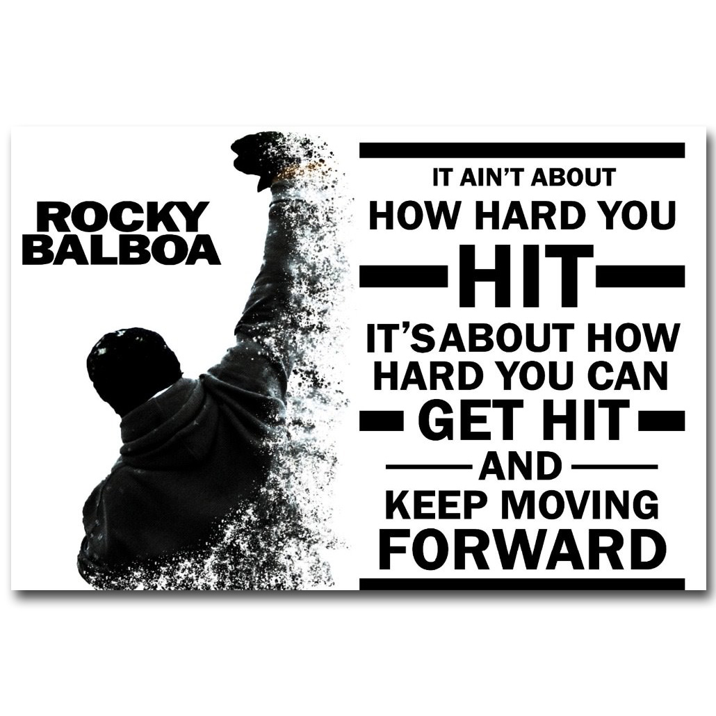 Motivational Inspirational Quotes: ROCKY BALBOA Motivational Quotes Poster Art Silk Fabric