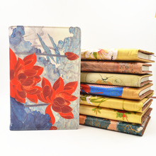 Large Painted Hardcover Business Chinese Notebook Gift Vintage Color Adult Diary Silk Brocade Traditional Craft Notepad