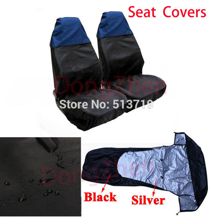 Dongzhen 1X Water Resistant Universal Front Car Seat Protectors Covers For Ford BMW VW Black/Red Car Styling