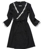 Nuevo Diseño Superventas 2017 Primavera Europea Media Túnica de La Manga + vestido Set Dos Piezas ropa de Dormir de Las Mujeres Al Por Mayor de Artículos de Regalos caliente