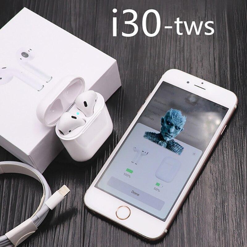 Pop Up i30 TWS 1:1 réplique Bluetooth 5.0 Air Pods écouteurs sans fil écouteurs avec écouteurs intra-auriculaires i30 TWS PK i20 i10 i12 W1 puce
