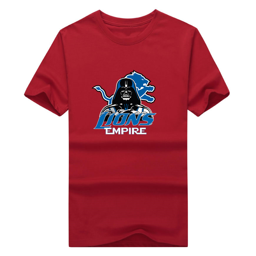 3f748d97 US $17.99 10% OFF 2017 New 100% Cotton Lions Empire T shirt Star Wars Darth  Vader Detroit T Shirt 0103 1 asia size-in T-Shirts from Men's Clothing on  ...