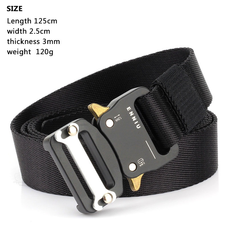 HTB14DYiUSzqK1RjSZPxq6A4tVXaC - Tactical Belts Nylon Military Waist Belt with Metal Buckle Adjustable Heavy Duty Training Waist Belt Hunting Accessories