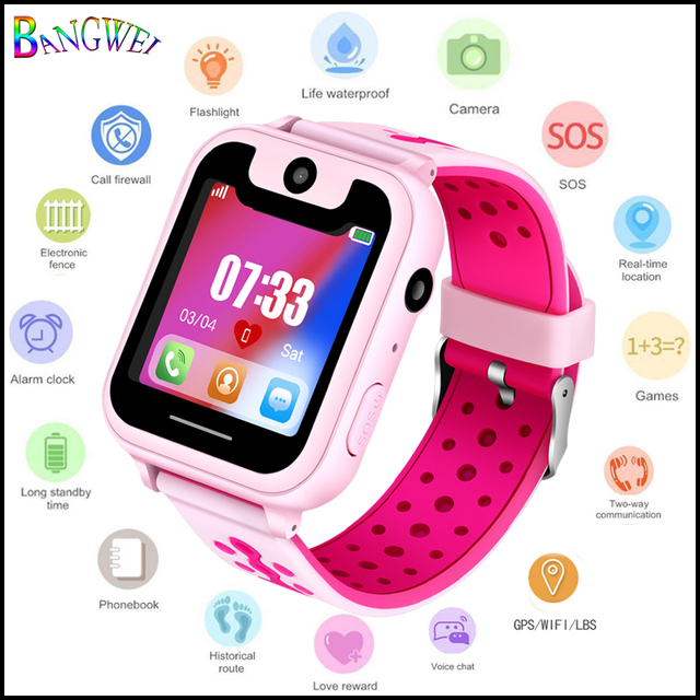 2018 new children's smart watch connection mobile phone APPLPS remote positionin