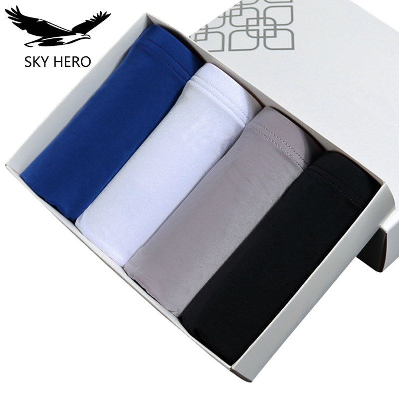 Boxer Shorts Panties Pouch Men Underwear Cueca Sexy 4pieces/Lot Male Calzoncillos Cool