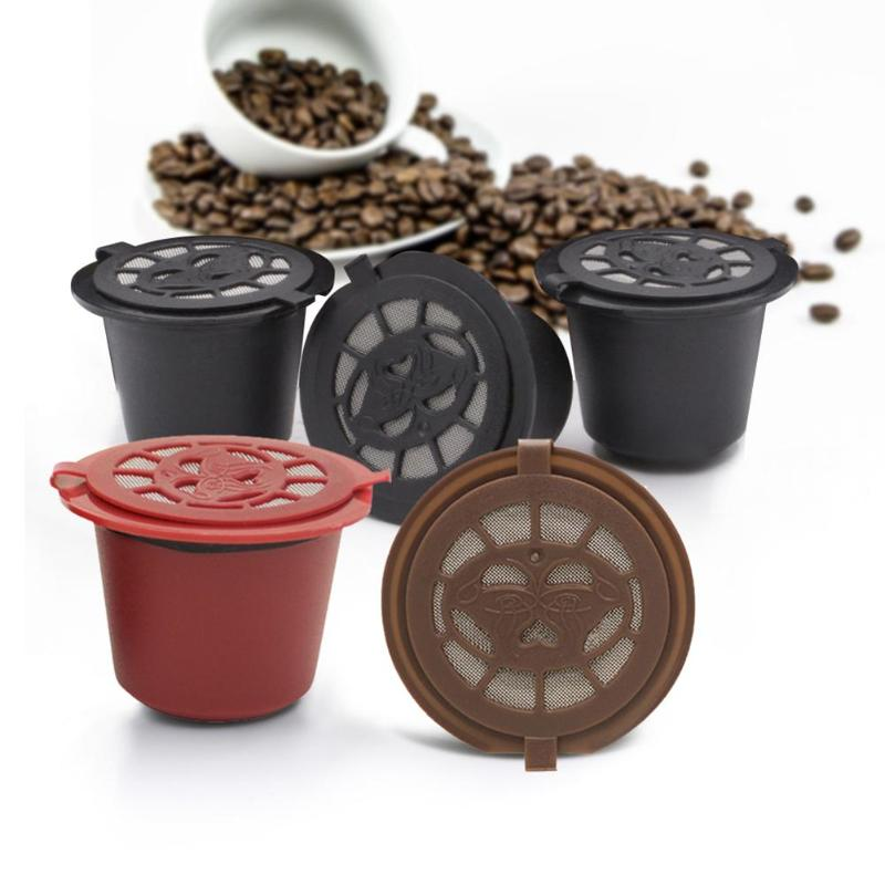 4pcs/set Reusable Coffee Capsule Refillable Coffee Capsule Filters For Nespresso Coffee Machine Kitchen Accessories
