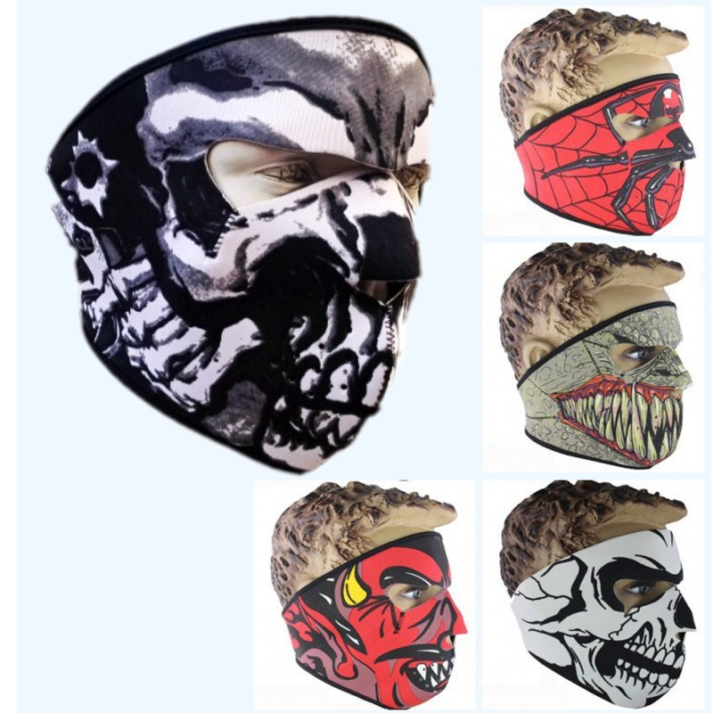 New Winter Fashion Anime Mouth Mask Skull Face Mask Warmer Windproof Dustproof Full Masks Outdoor Sports CS CF Unisex Balaclava