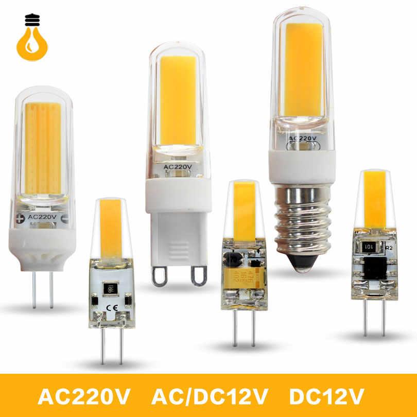 1 sztuk/partia wysokiej jakości 6W 9W COB LED G4 G9 E14 led żarówki 360 kąt świecenia Bombillas wymienne halogenowe do żyrandola światła Mini G4 G9 LED