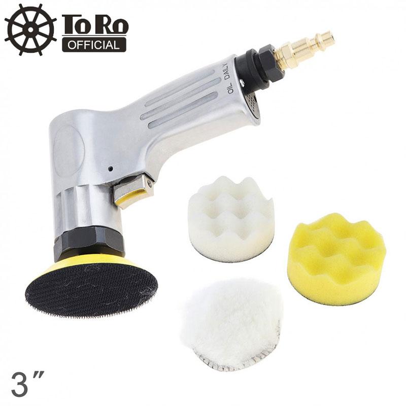 Высокоскоростная пневматическая полировальная машина TORO, 3 дюймовый набор с кнопочным выключателем и матовой поверхностью, шлифовальная г
