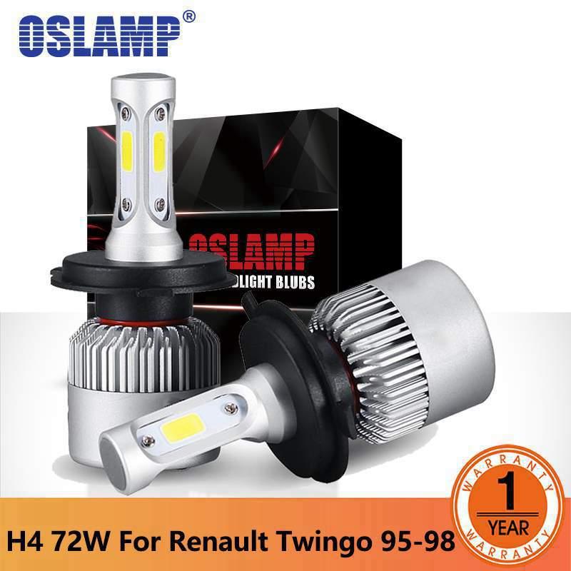 Oslamp S2 светодиодные фары h4 УДАРА фишек фары автомобиля Hi-Lo ближнего света лампы 7000LM 6500 К 12 В 24 В авто фары для Renault Twingo