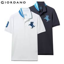 d5cc92c2 Giordano Men Polo Shirt 2-Pack Embroidered Pattern Fashion Polo Men  Stretchy Short Sleeve Polos