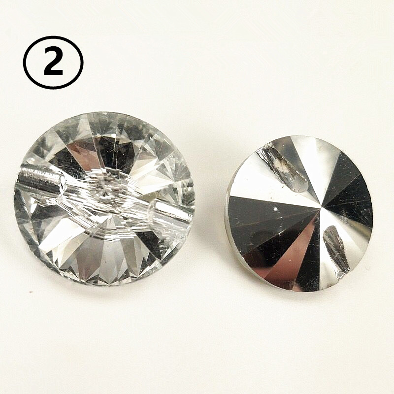 Apparel Sewing & Fabric Furniture Decorative Buckle 25mm Clear Color Satellite Drill Soft Package Acrylic Sofa Buckle Rhinestones Buttons