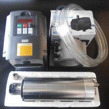 Топ ЧПУ 80 мм HY 1.5KW ER11 с водяным охлаждением шпинделя и Инвертор VFD + 7 шт. ER11