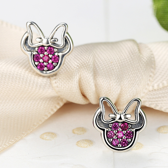 925 Sterling Silver Cute Stud Earrings For Children S Kids Baby Jewelry