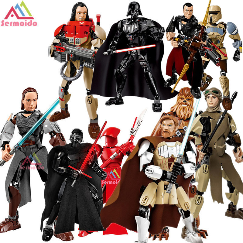 KSZ Star Wars Rogue One Toys Jango Phasma Jyn Erso K-2SO Darth Vader General Grievous Figure toy building blocks TOYS B253 ksz326 star wars rogue one toys jango phasma jyn erso k 2so darth vader general grievous figure toy building blocks toys