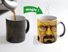 Taza taza de Heisenberg Walter White Breaking bad yo soy el uno que golpe de café tazas de Calor Sensible taza calor cambio de color magia taza