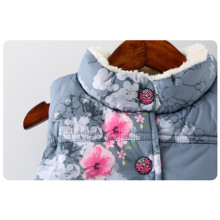 2017 Winter Baby Girls Waistcoat Thick With Fleece Kids Warm Vests Floral Print Toddler Girl Clothing Children's Vest For Girl