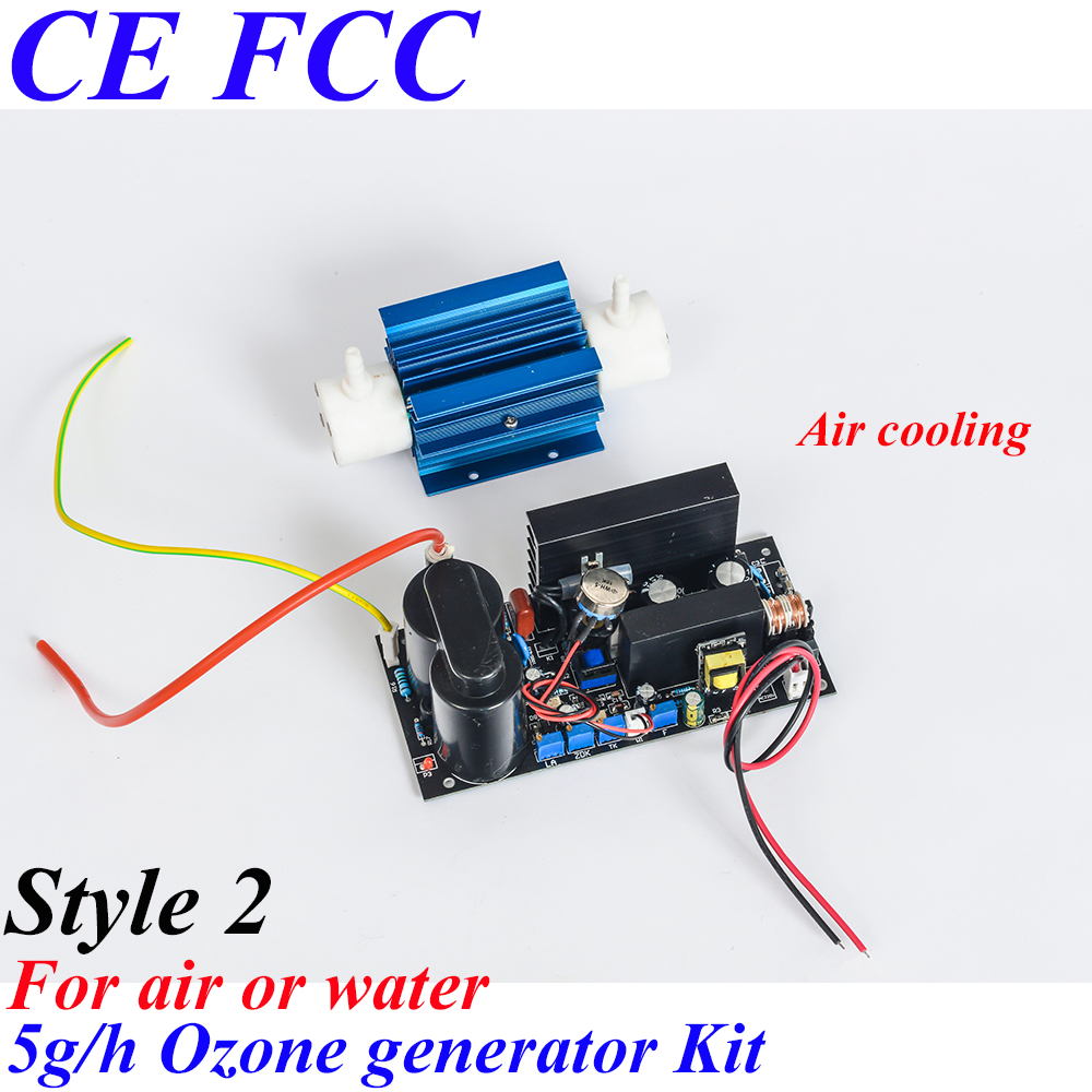 Pinuslongaeva CE EMC LVD FCC Factory outlet 5g/h Quartz tube type ozone generator Kit adjustable 5 grams ozone water air pinuslongaeva ce emc lvd fcc factory outlet 10g h quartz tube type ozone generator kit high voltage discharge type ozone kits