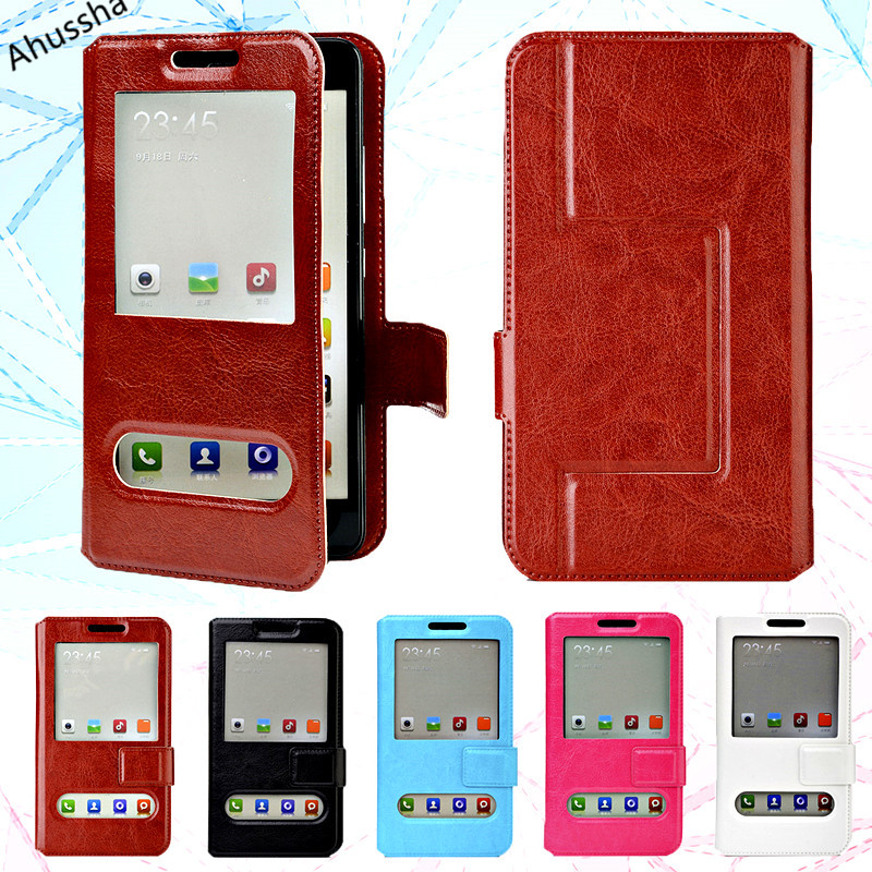Fashion View Window Flip PU Leather Case Back Cover For Assistant AS-503 Target Holster Cover 5 Universal Bags