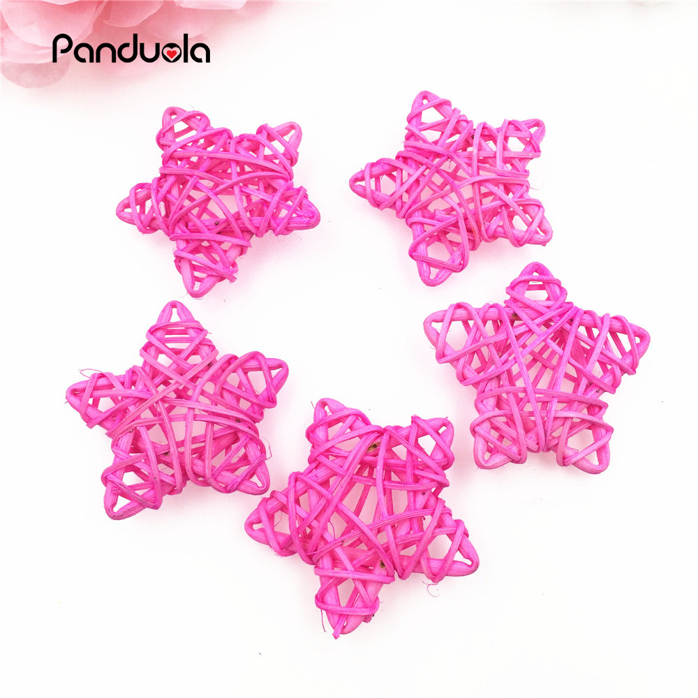 Rattan Stars 10pcs Ball 6cm Home Decoration Craft Supplies For Christmas Birthday Party Sepak Takraw babyshower