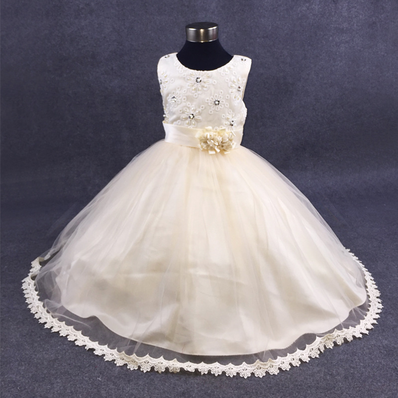 Girls Dresses Communion Pageant Princess Dress for Little Girls Embroidered Baby Wedding Clothes Ball Gown Birthday 10 12 Years hayden girls boho ethnic dress designs teenage girls national embroidered dresses flare sleeve loose fit dress for 7 to 14 years