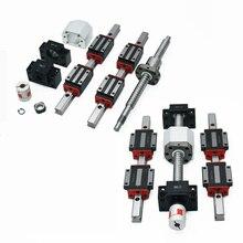 2 sztuk HGH20 HGR20 prowadnica liniowa + HGH20CA lub HGW20cc + SFU1605 śruba kulowa wysoki montaż placu obciążenia ballscrew liniowy moduł ruchu